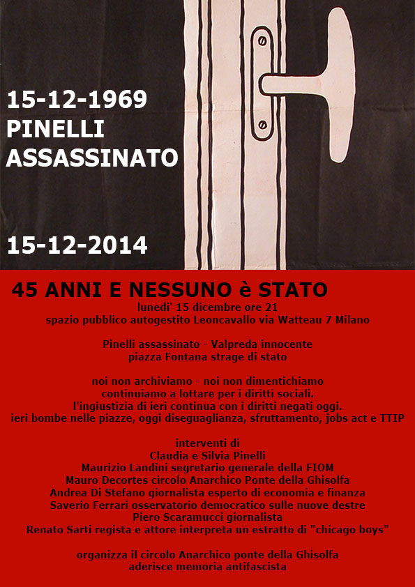 Assassinio Pinelli - 15/12/2014