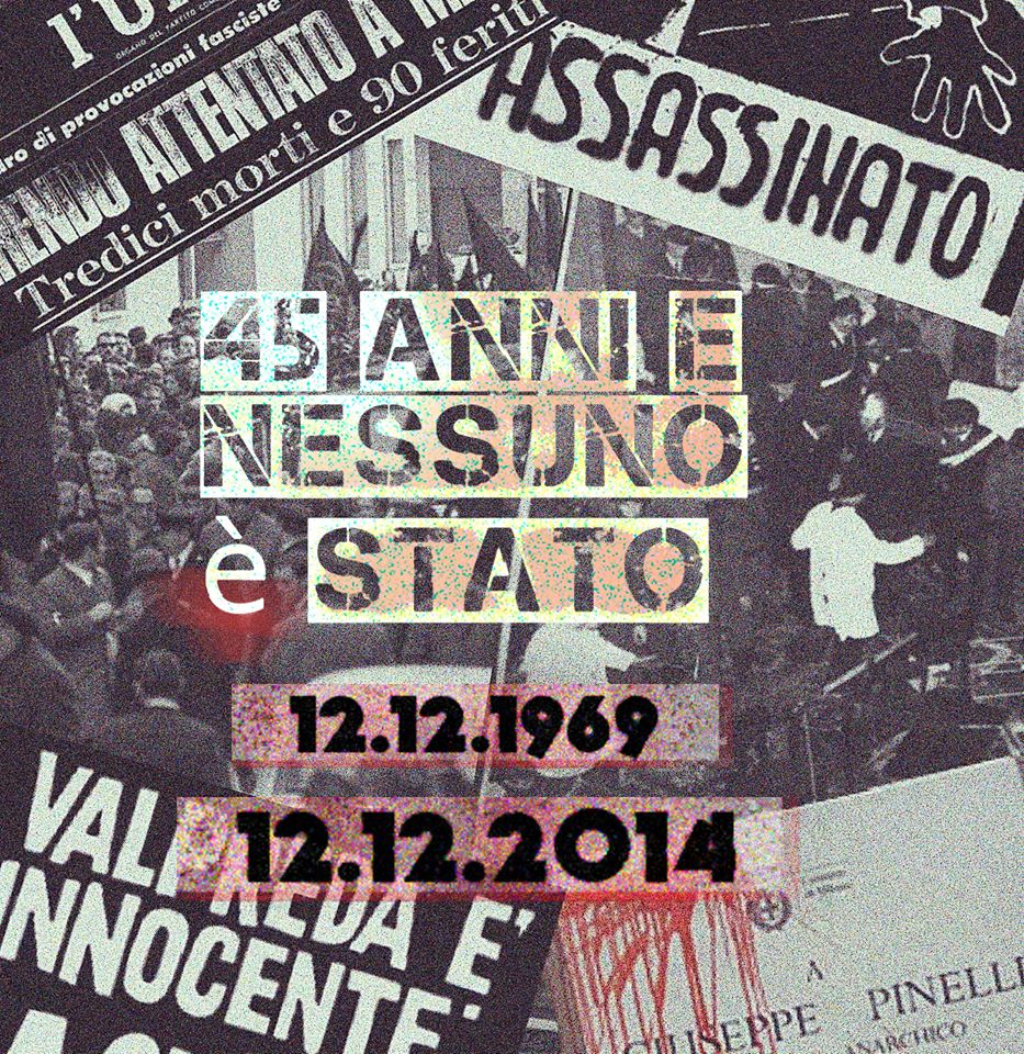assassinio pinelli  - piazza fontana 2014