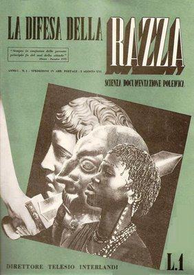 propaganda fascista - rivista - la difesa della razza