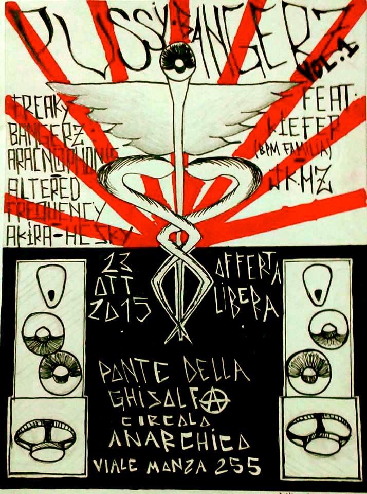 pussy bangerz vol.1@ circolo Anarchico Ponte delle Ghisolfa 23-10-2015