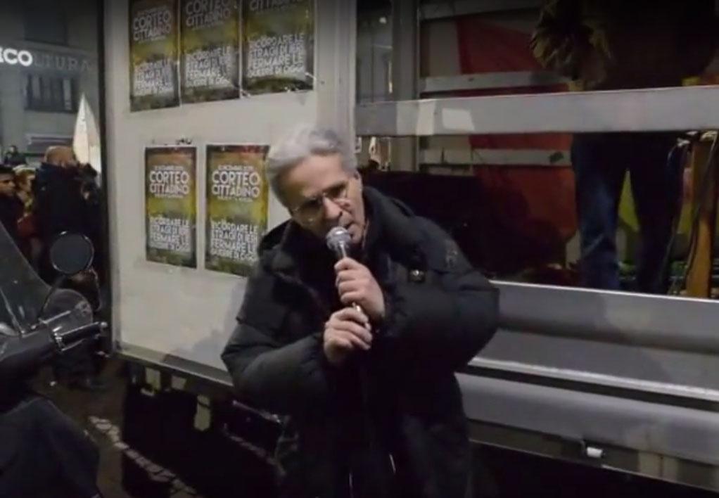 intervento di Mauro De Cortes (circolo Anarchico Ponte della Ghisolfa) @ corteo 12-12-2015