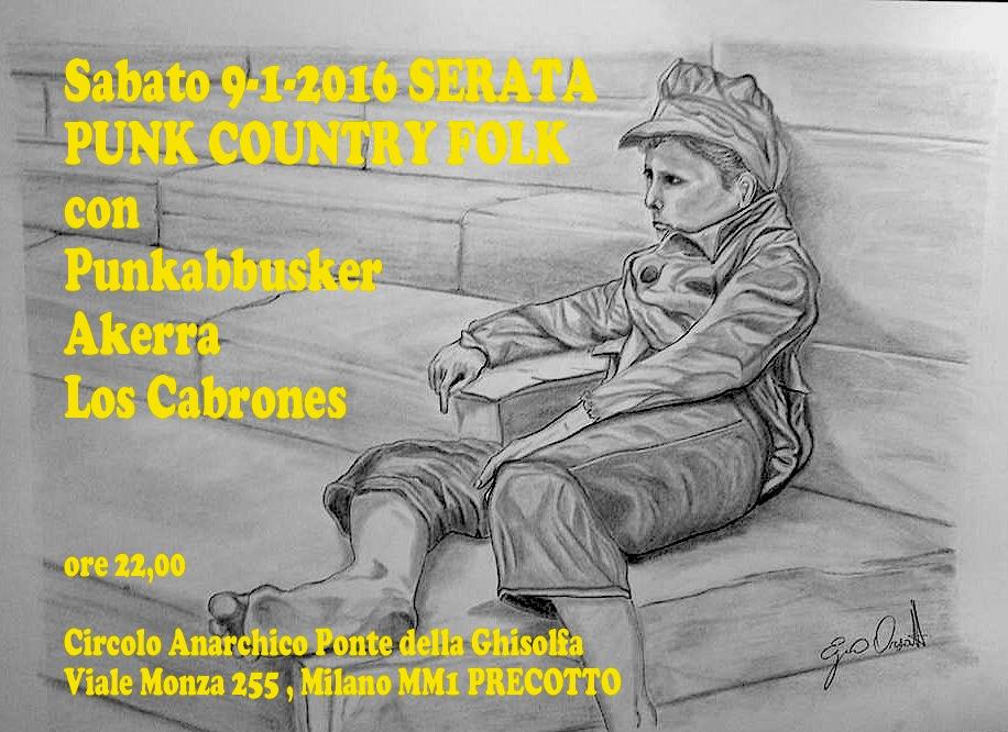 Punkabbuskers + Akerra + Los Cabrones @ circolo Anarchico Ponte della Ghisolfa 09-01-2016