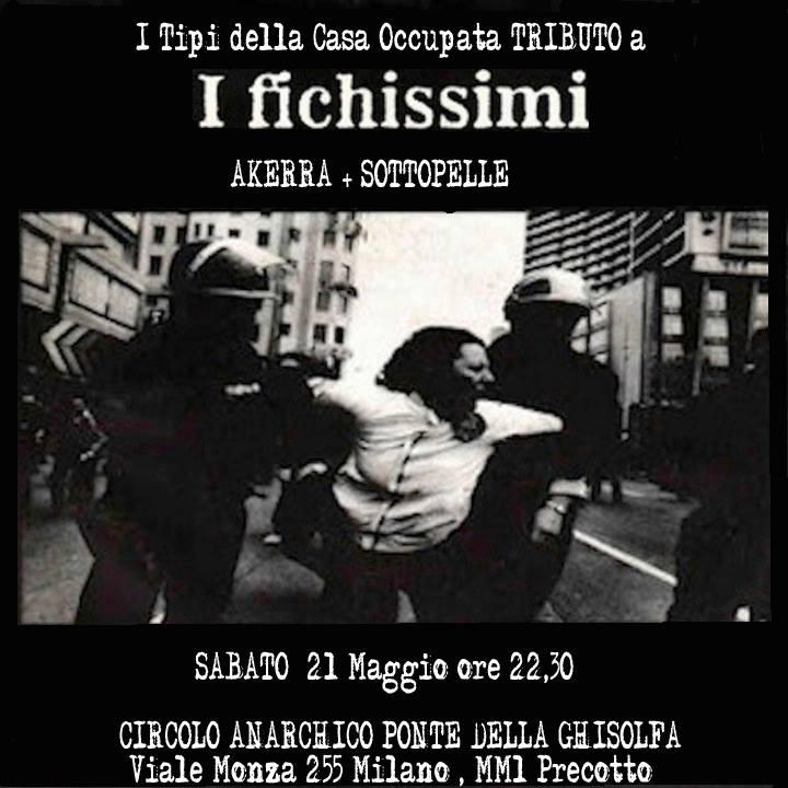 punx live: I Tipi della casa occupata (tributo a I Fichissimi) + Akerra + SottoPelle @ circolo Anarchico Ponte della Ghisolfa 21-05-2016