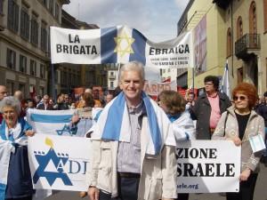 """foto spezzone """"brigata ebraica"""" al corteo del 25 aprile a Milano"""