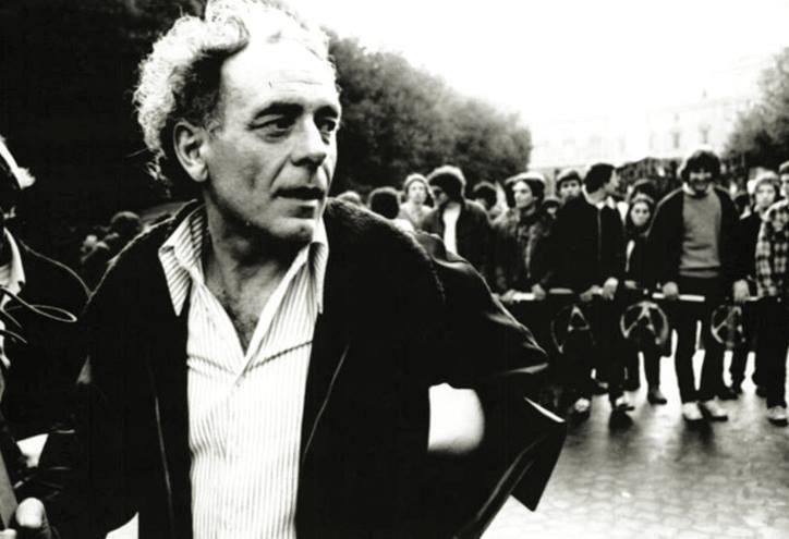 Pietro Valpreda ad una manifestazione a Roma