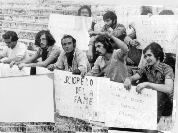 Roma, sciopero della fame (25 sett. - 2 ott. 1969) — con Giorgio Spanò, Pietro Valpreda, Fefè, Leonardo Claps e Roberto Gargamelli