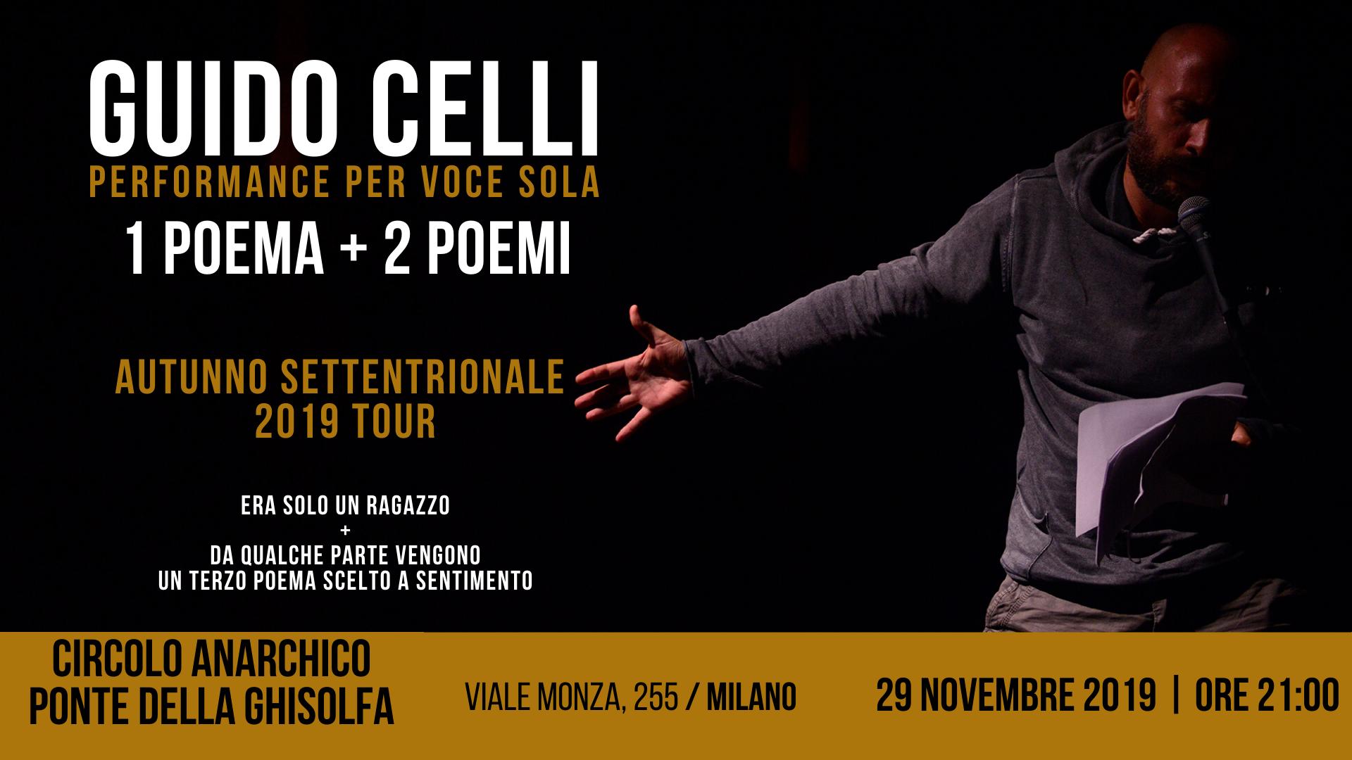 Guido Celli - Performance per voce sola