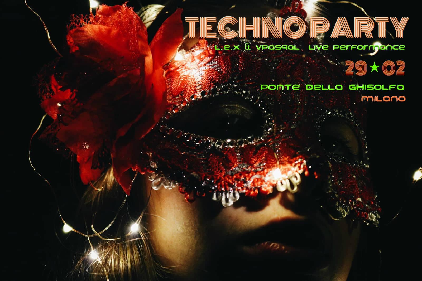 Techno party in maschera al ponte della ghisolfa